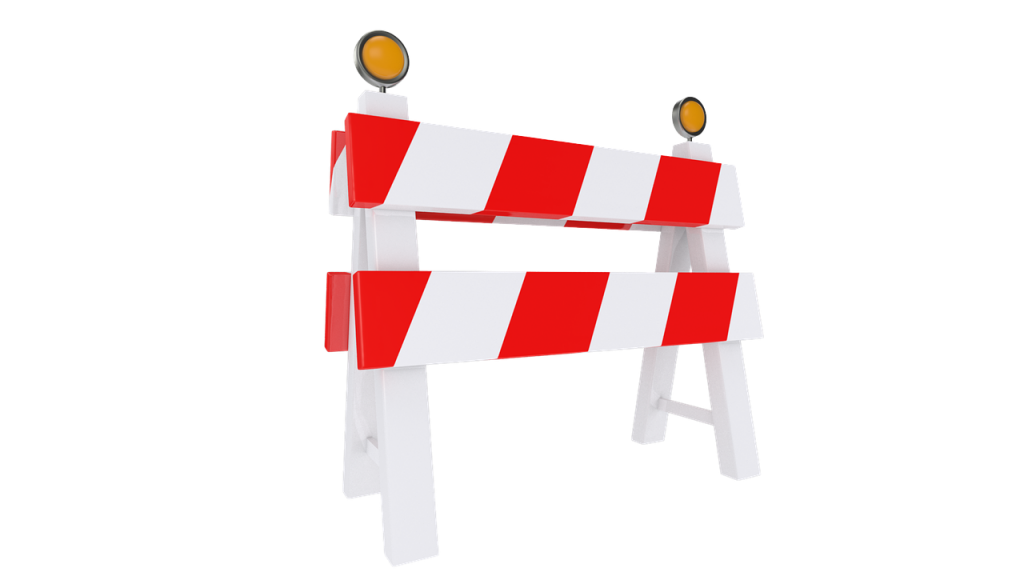 repair, road, fence