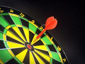 black board bright bullseye