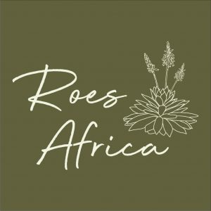 Roes Square Logo - Linen on Moss - No Slogan